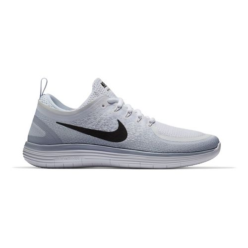 Mens Nike Free RN Distance 2 Running Shoe - White/Grey 8.5