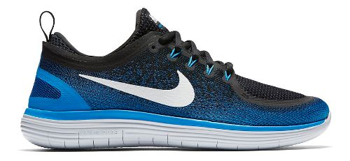 Mens Nike Free RN Distance 2 Running Shoe - Blue/Black 10.5