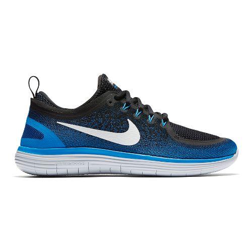 Mens Nike Free RN Distance 2 Running Shoe - Blue/Black 8