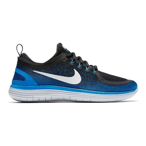 Mens Nike Free RN Distance 2 Running Shoe - Blue/Black 8.5