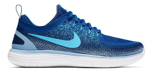Mens Nike Free RN Distance 2 Running Shoe - Black/White 9.5