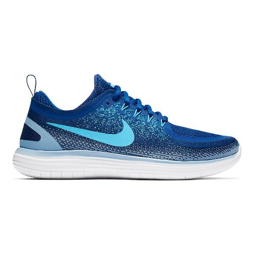 Mens Nike Free RN Distance 2 Running Shoe - Blue 11.5