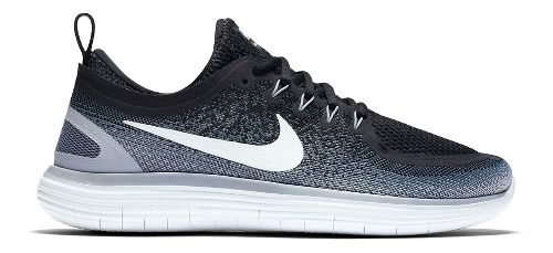 Womens Nike Free RN Distance 2 Running Shoe - Black/White 7