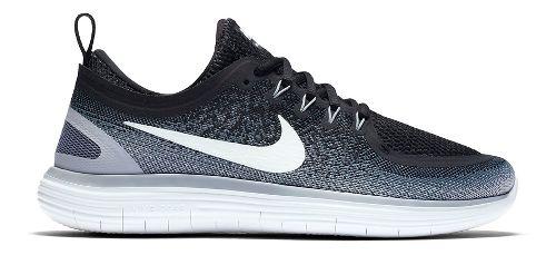 Womens Nike Free RN Distance 2 Running Shoe - Black/White 8