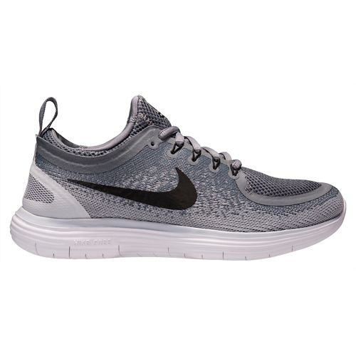 Womens Nike Free RN Distance 2 Running Shoe - Black/Volt 9.5