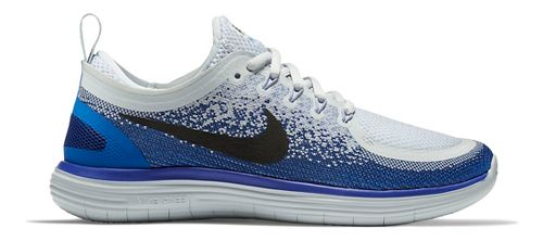 Womens Nike Free RN Distance 2 Running Shoe - Black/White 9