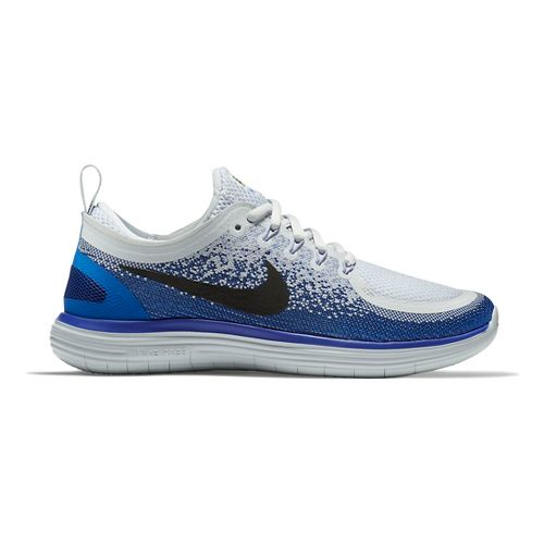 Womens Nike Free RN Distance 2 Running Shoe - White/Purple 8.5