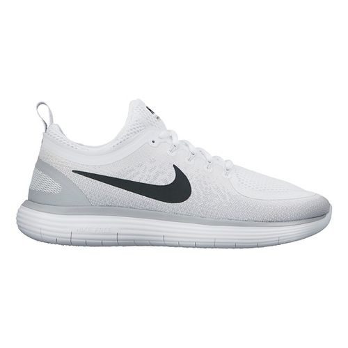 Womens Nike Free RN Distance 2 Running Shoe - White/Grey 10.5