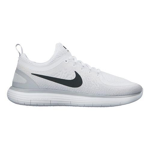 Womens Nike Free RN Distance 2 Running Shoe - White/Grey 7.5