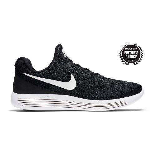 Mens Nike LunarEpic Flyknit 2 Running Shoe - Black/White 11