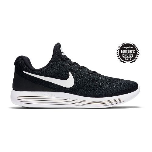Mens Nike LunarEpic Flyknit 2 Running Shoe - Black/White 11.5