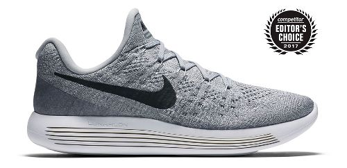 Mens Nike LunarEpic Flyknit 2 Running Shoe - Grey/Black 9.5