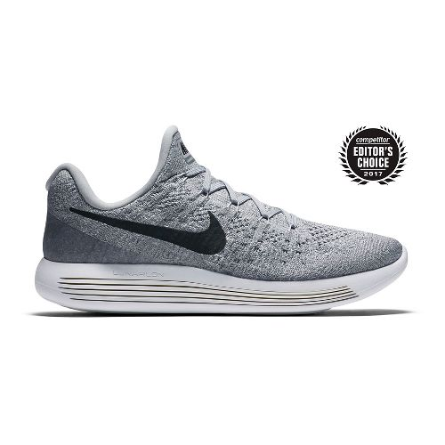 Mens Nike LunarEpic Flyknit 2 Running Shoe - Grey/Black 10.5