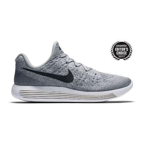 Mens Nike LunarEpic Flyknit 2 Running Shoe - White/Black 11