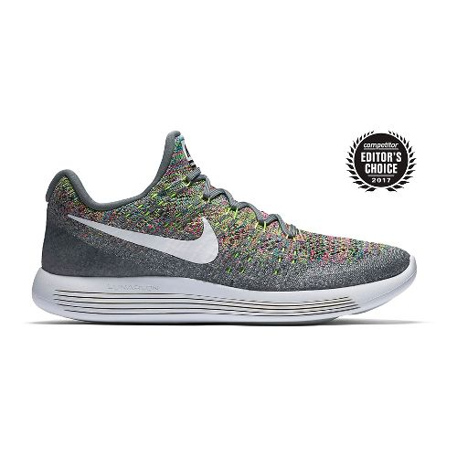 Mens Nike LunarEpic Flyknit 2 Running Shoe - Grey/Multi 12