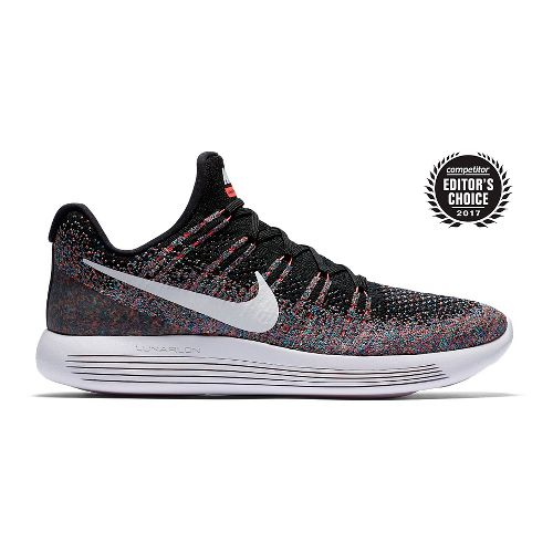 Mens Nike LunarEpic Flyknit 2 Running Shoe - Black/Multi 10.5