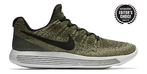 Mens Nike LunarEpic Flyknit 2 Running Shoe - Green/Black 11