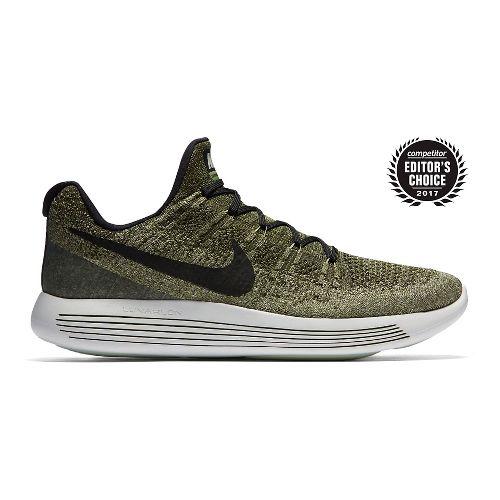 Mens Nike LunarEpic Flyknit 2 Running Shoe - Green/Black 10.5