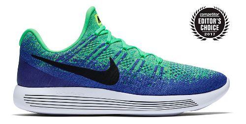 Mens Nike LunarEpic Flyknit 2 Running Shoe - Green/Blue 11