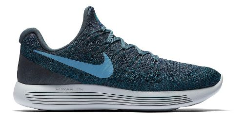 Mens Nike LunarEpic Flyknit 2 Running Shoe - Green/Black 9.5
