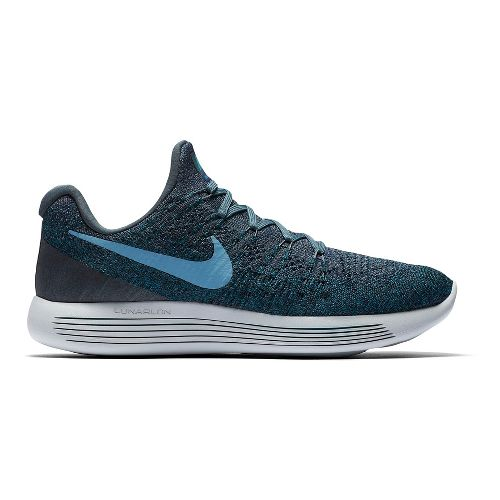 Mens Nike LunarEpic Flyknit 2 Running Shoe - Blue/Grey 8.5