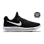 Womens Nike LunarEpic Flyknit 2 Running Shoe - Black/White 11