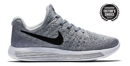 Womens Nike LunarEpic Flyknit 2 Running Shoe - Grey/Black 10