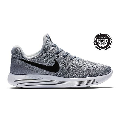 Womens Nike LunarEpic Flyknit 2 Running Shoe - Grey/Black 10.5