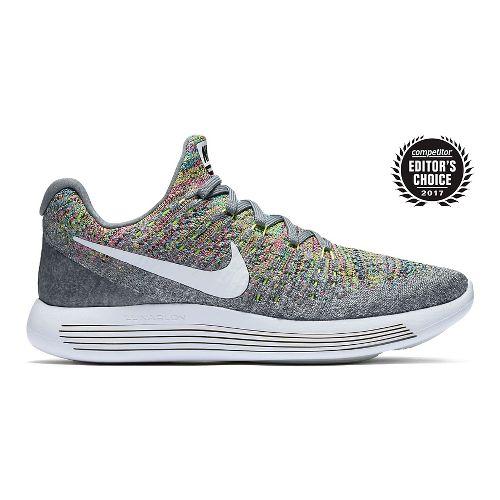 Womens Nike LunarEpic Flyknit 2 Running Shoe - Grey/Multi 8