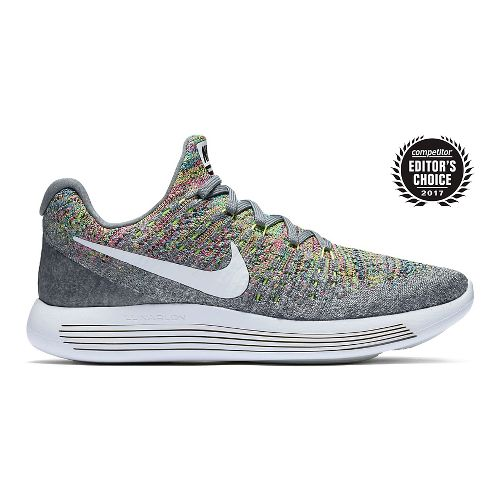 Womens Nike LunarEpic Flyknit 2 Running Shoe - Grey/Multi 9.5