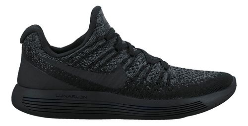 Womens Nike LunarEpic Flyknit 2 Running Shoe - Black/Black 9