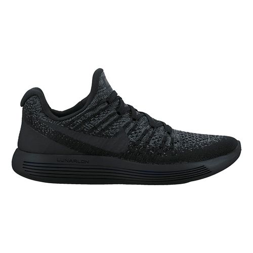 Womens Nike LunarEpic Flyknit 2 Running Shoe - Black/Black 10.5