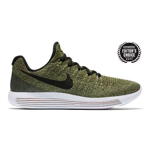 Womens Nike LunarEpic Flyknit 2 Running Shoe - Palm Green 8