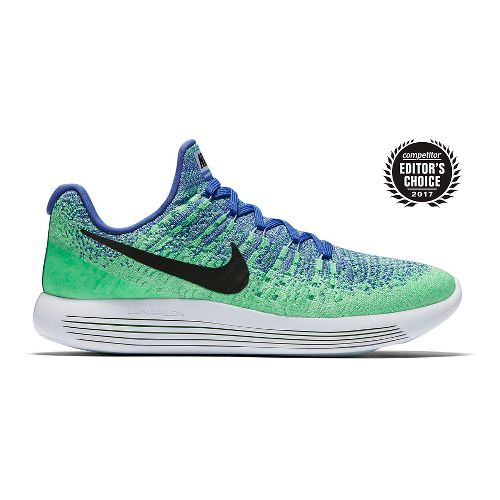 Womens Nike LunarEpic Flyknit 2 Running Shoe - Blue/Green 10