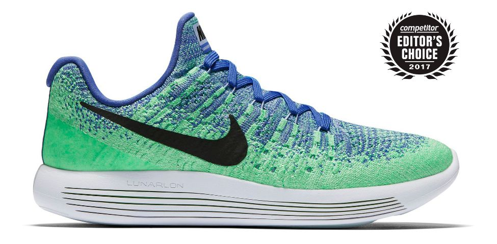 bright blue and green nike shoes