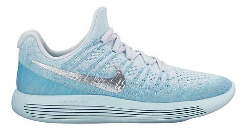 Womens Nike LunarEpic Flyknit 2 Running Shoe - Glacier 8