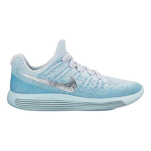 Womens Nike LunarEpic Flyknit 2 Running Shoe - Glacier 9