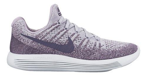 Womens Nike LunarEpic Flyknit 2 Running Shoe - Black/White 6.5