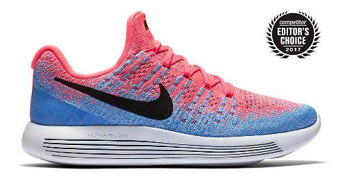 Womens Nike LunarEpic Flyknit 2 Running Shoe - Hot Punch 7.5