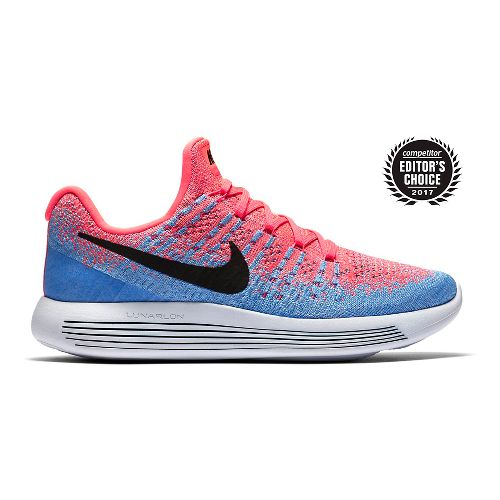 Womens Nike LunarEpic Flyknit 2 Running Shoe - Hot Punch 10.5
