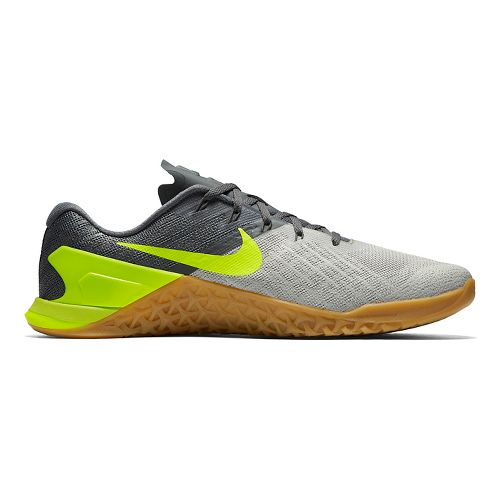 Mens Nike MetCon 3 Cross Training Shoe - Grey/Volt 9.5