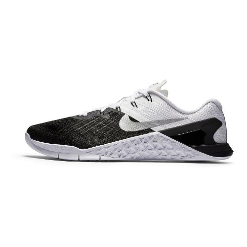 Mens Nike MetCon 3 Cross Training Shoe - Black/White 12.5