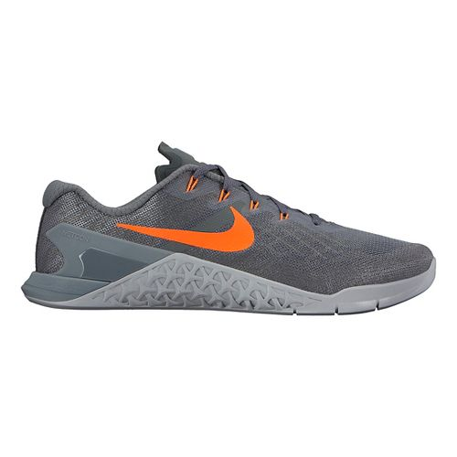 Mens Nike MetCon 3 Cross Training Shoe - Charcoal/Orange 9.5