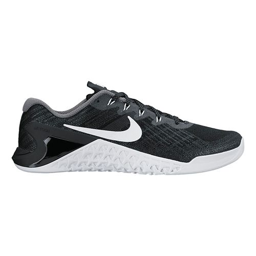 Womens Nike MetCon 3 Cross Training Shoe - Black/White 10.5