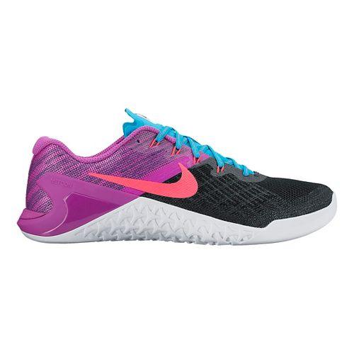 Womens Nike MetCon 3 Cross Training Shoe - Black/Violet 11