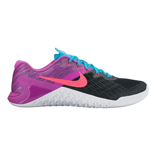 Womens Nike MetCon 3 Cross Training Shoe - Black/Violet 8.5