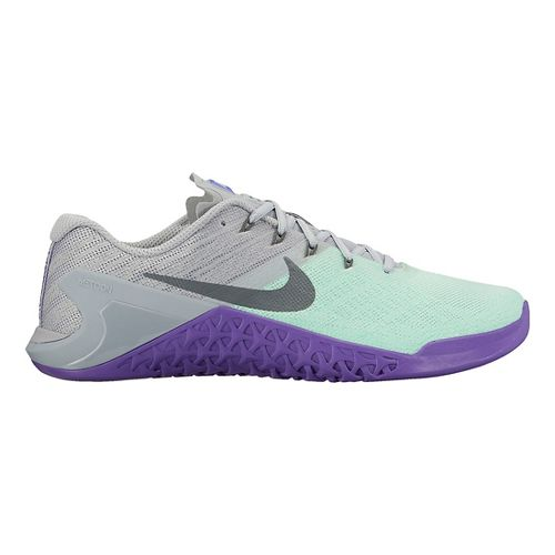 Womens Nike MetCon 3 Cross Training Shoe - Green/Grey 9.5