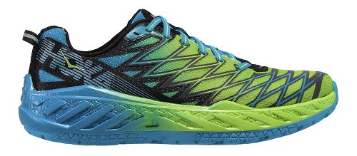 Mens Hoka One One Clayton 2 Running Shoe - Green/Blue 8