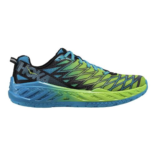 Mens Hoka One One Clayton 2 Running Shoe - Green/Blue 7