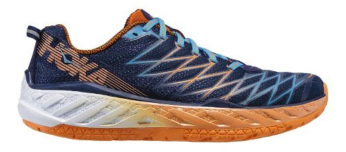 Mens Hoka One One Clayton 2 Running Shoe - Blue/Orange 8